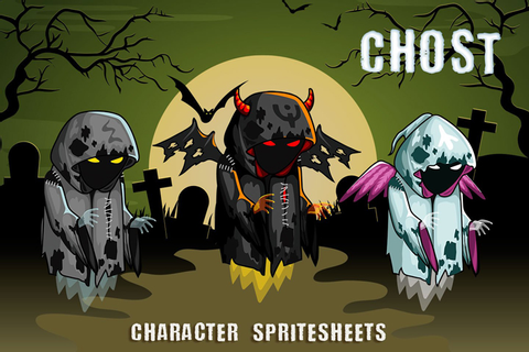 Ghosts 2D Game Character Sprite Sheet by Free Game Assets ...