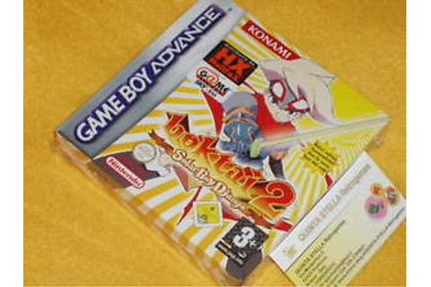 BOKTAI 2 SOLAR BOY DJANGO Game Boy Advance NEW GBA VERY ...