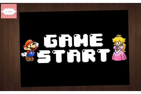 Placa Game Start Mario & Peach | Le Mime | Elo7