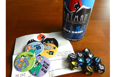 Batman: The Animated Series Dice Game – Games based on ...