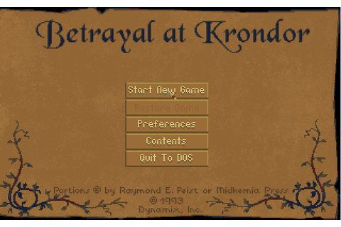 Betrayal At Krondor (1993)(Sierra Online) Game