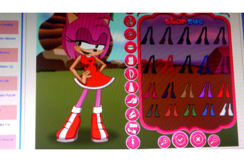 Amy rose dress up - YouTube