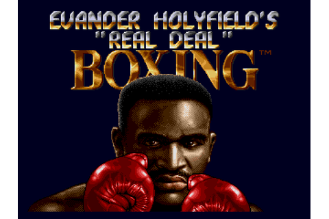 Evander Holyfield's 'Real Deal' Boxing (World) ROM