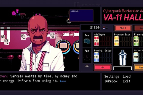 Cyberpunk bartending for racist corgis, Waifu in VA-11 HALL-A