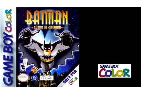Batman: Chaos in Gotham (Game Boy Color) (Gameplay) The ...