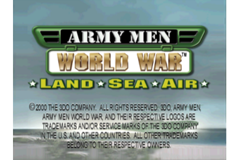 Play Army Men - World War - Land, Sea, Air Sony ...