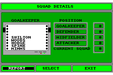 Tracksuit Manager (1989) by Goliath Games Amiga game