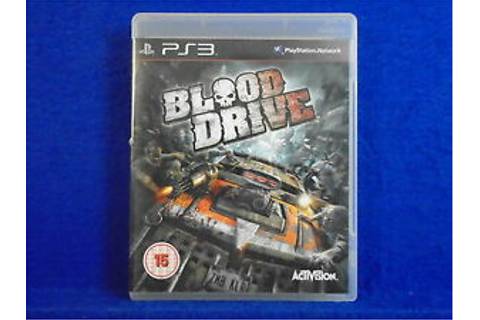 ps3 BLOOD DRIVE A Vehicular Combat Game MINT DISC ...
