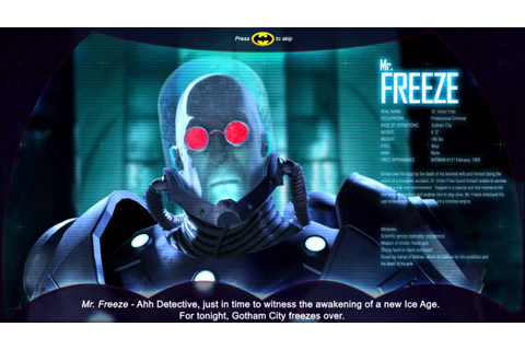 Batman - Freeze Stage Intro - Specular Games - New Arcade ...