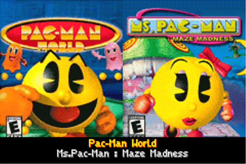 Pac-Man World + Ms. Pac-Man: Maze Madness gba game by ...