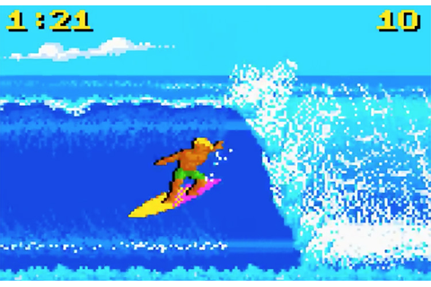 California Games, the first surfing video game