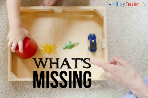 What's Missing: A Toddler Game - Busy Toddler