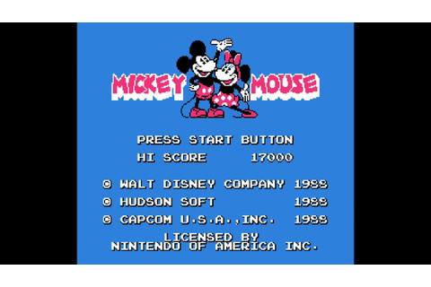 Mickey Mousecapade - NES Game Complete All Walkthrough ...