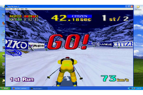SEGA Ski Super G Time Attack (Night Valley Course) - YouTube