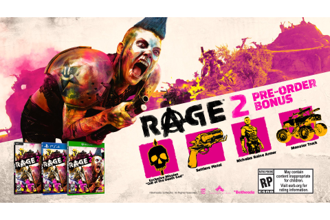 RAGE 2 Pre-Order Bonus Revealed; Game To Be Powered by ...