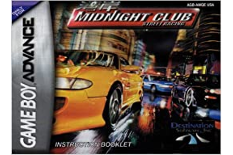 Midnight Club Street Racing GBA Instruction Booklet (Game ...