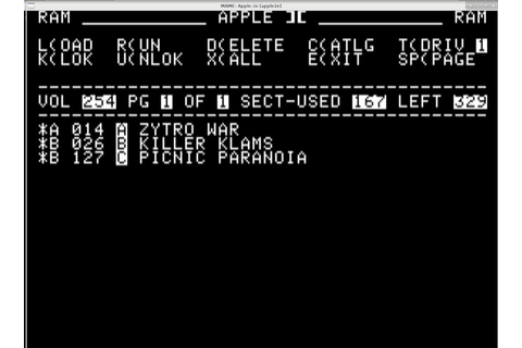 Apple IIe emulation on Fedora Linux 29 using MAME