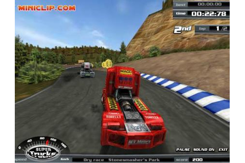 Play free Super Trucks Online games.
