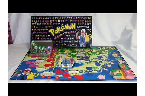 Pokemon Master Trainer Board Game Review - YouTube