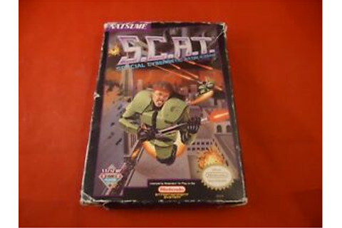 S.C.A.T. Special Cybernetic Attack Team Nintendo NES Box ...