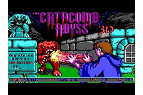 Catacomb Abyss 3D - 1992 PC Game, introduction and ...