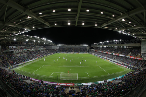 The National Football Stadium at Windsor Park Opening Game ...