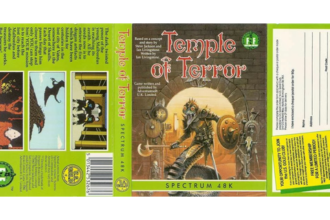 MALthus Dire's Fighting Fantasy Page: Temple Of Terror (ZX ...