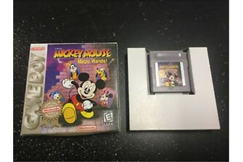 Mickey Mouse: Magic Wands Nintendo Game Boy Rare Gameboy ...