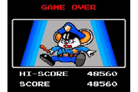 Game Over: Mappy (Sega Game Gear) - YouTube
