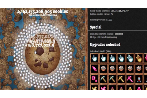 Cookie Clicker (500mil/s) ― End Game - YouTube