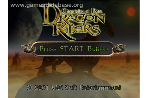 Dragonriders: Chronicles of Pern - Sega Dreamcast - Games ...