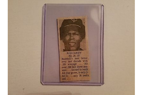 Rod Carew 1976 All Star Game Evening Bulletin Scrapbook ...
