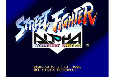 Street Fighter Alpha: Warriors' Dreams (1995) Arcade game