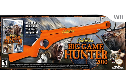 Cabela's Big Game Hunter 2010 Gun Bundle Nintendo Wii Game