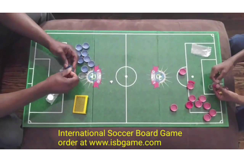 International soccer board game - YouTube