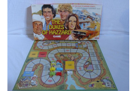 Vintage 1981 Dukes of Hazzard Board Game Ideal Incomplete ...