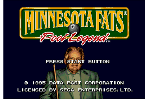 Play Minnesota Fats - Pool Legend Sega Genesis online ...