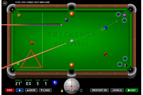 Trick Shot Billiards Flash Pool Game - Play Free Tabletop ...