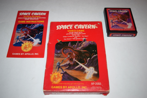 Space Cavern Red Atari 2600 Video Game Complete in Box | eBay