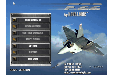 Download F-22 Lightning II | DOS Games Archive