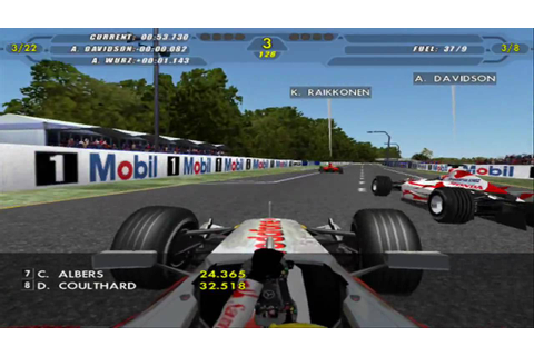 F1 2007 game ruining the race - YouTube