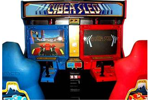 Cybersled Cyber Sled Namco Arcade Video Game