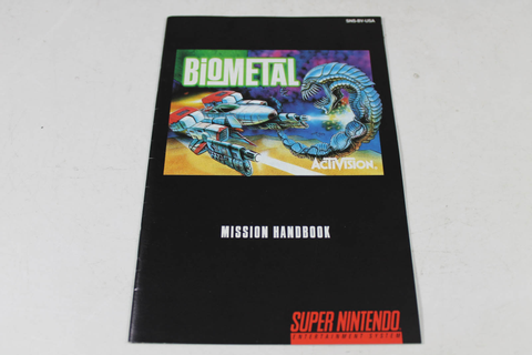 Manual - Biometal - Fun Snes Super Nintendo