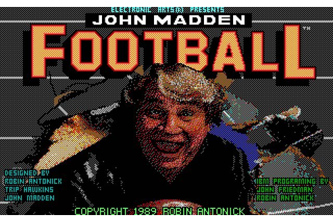 Download John Madden Football sports for DOS (1989 ...