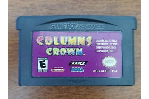 Columns Crown (Nintendo Game Boy Advance Video Game ...