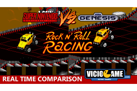 Super Nintendo VS Mega Drive (Rock n' Roll Racing) - YouTube