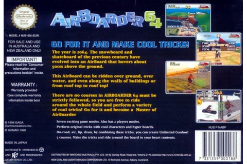 Air Boarder 64 Details - LaunchBox Games Database