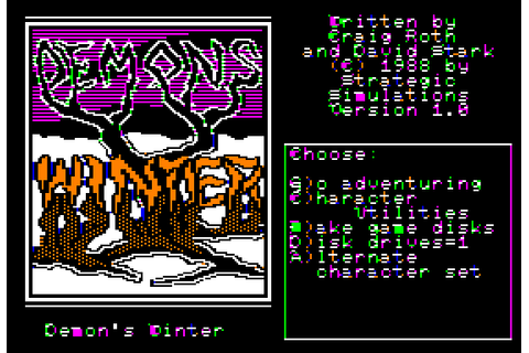 Demon's Winter (1988) by SSI Apple II E game