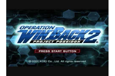 Operation Winback 2 Project Poseidon BGM 10 - YouTube
