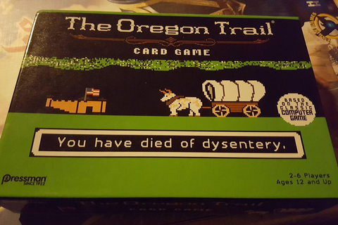 Oregon Trail card game and an adult version of Codenames ...